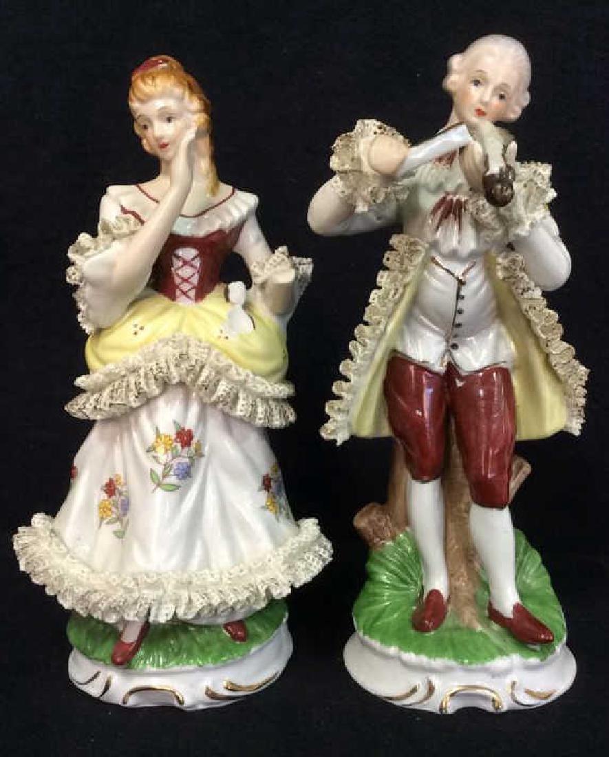Lot 2 Vintage Victorian Porcelain Figures