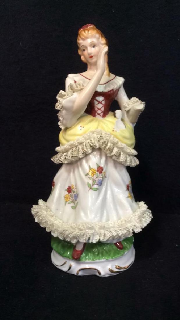 Lot 2 Vintage Victorian Porcelain Figures - 2