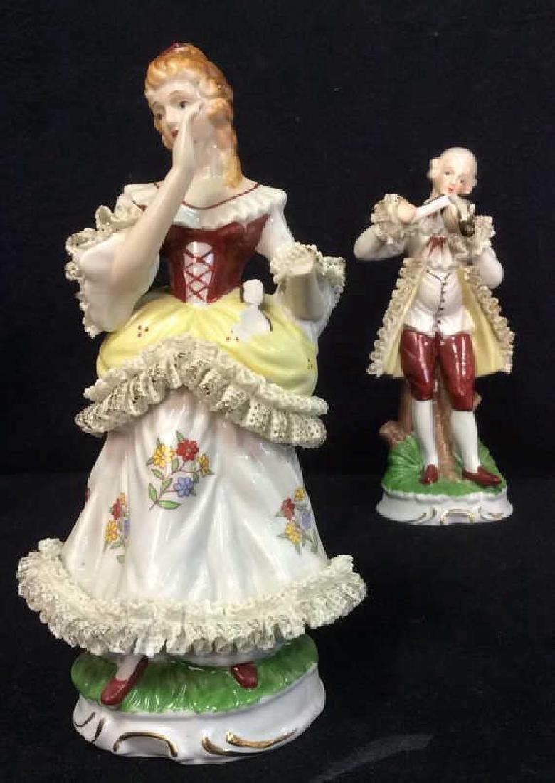 Lot 2 Vintage Victorian Porcelain Figures - 4