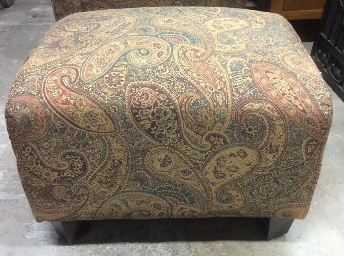 Lot 2 Multi Toned Matching Armchair & Ottoman - 10