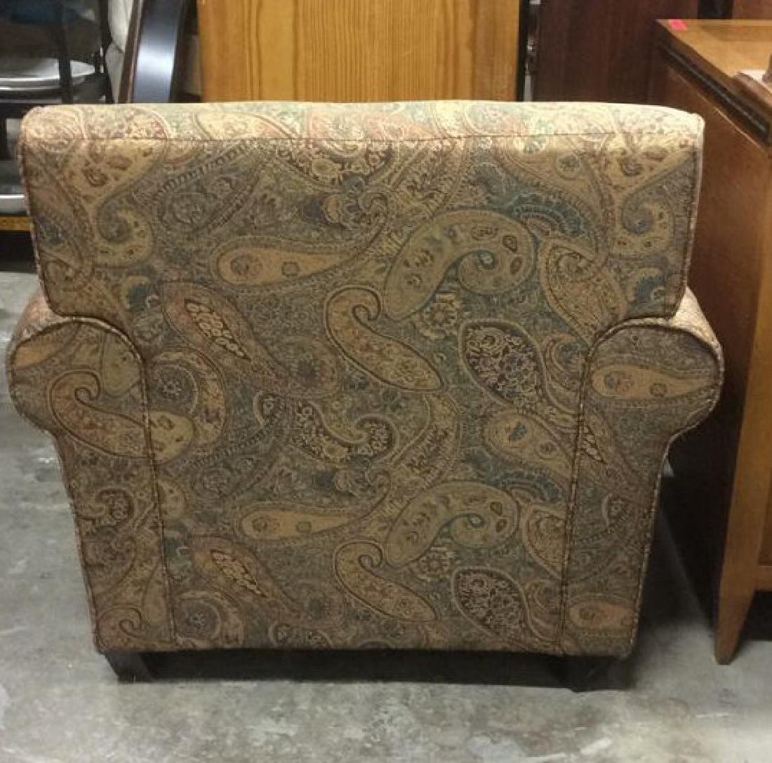 Lot 2 Multi Toned Matching Armchair & Ottoman - 8