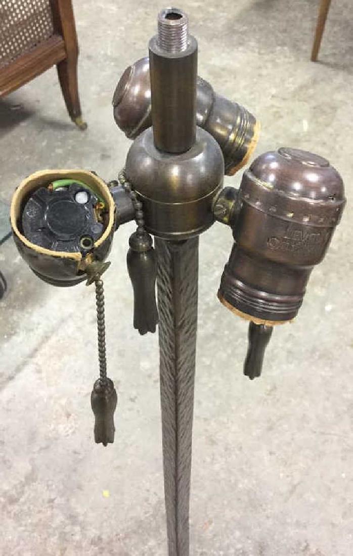 Three Footed Textured Iron Metal Floor Lamp - 3