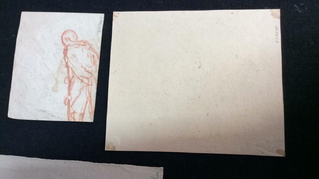 Lot 3 Abel Damourette Charcoal Sketches - 10