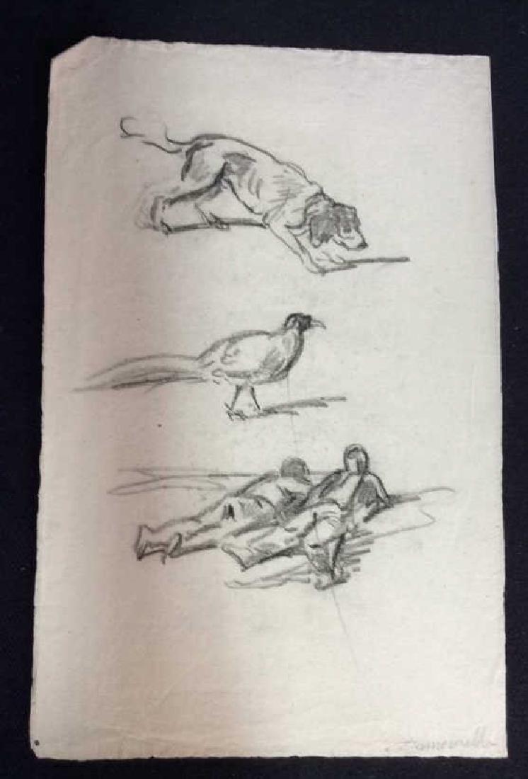 Lot 3 Abel Damourette Charcoal Sketches - 2