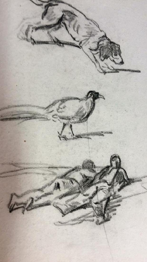 Lot 3 Abel Damourette Charcoal Sketches - 3