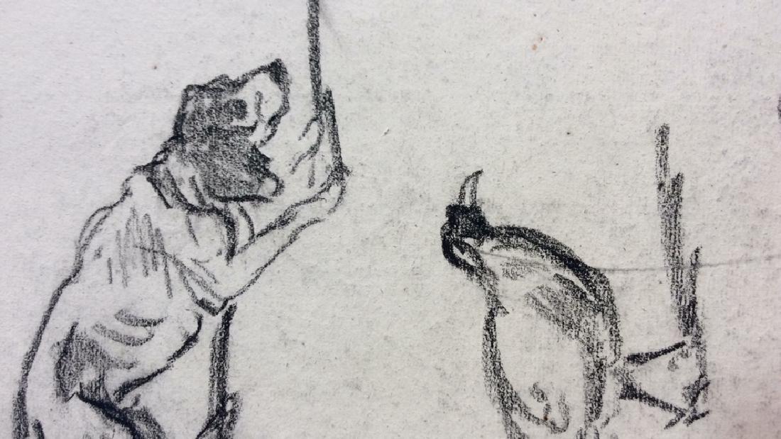 Lot 3 Abel Damourette Charcoal Sketches - 4
