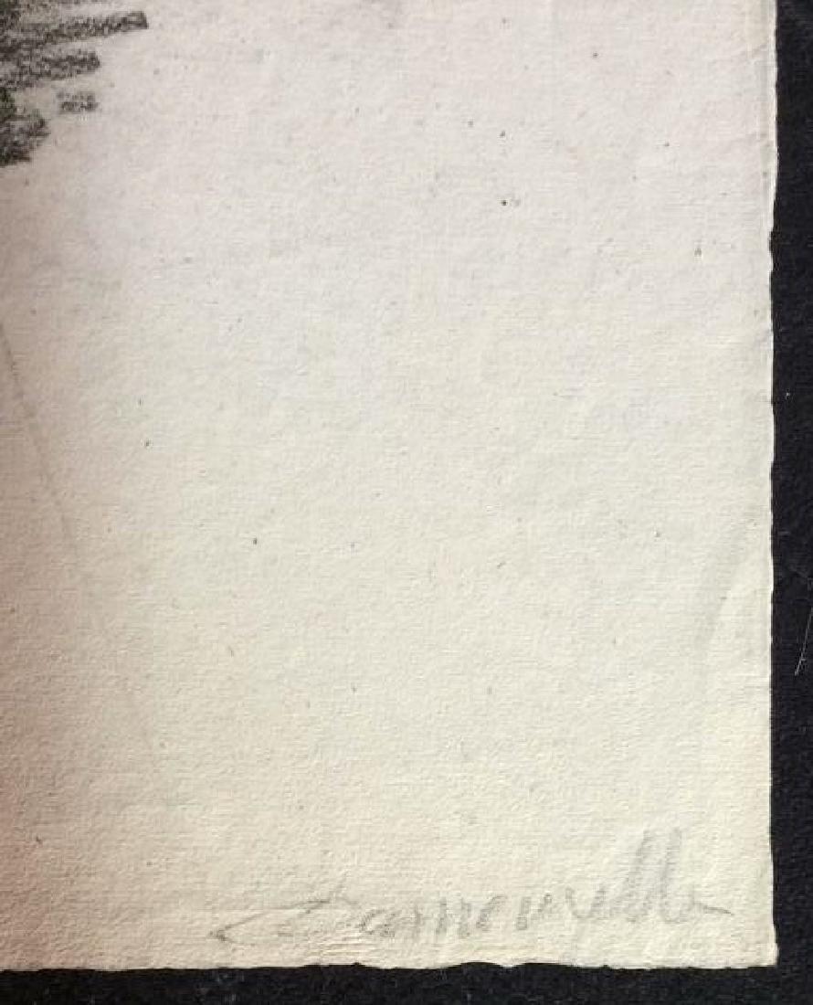 Lot 3 Abel Damourette Charcoal Sketches - 5