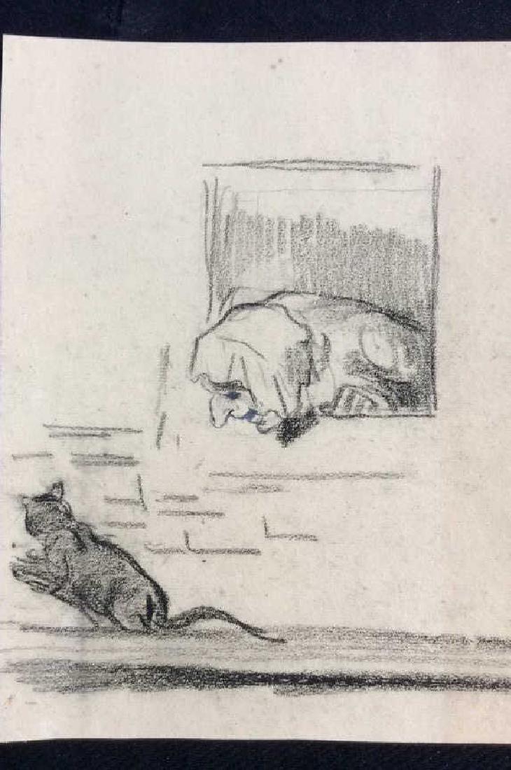 Lot 3 Abel Damourette Charcoal Sketches - 6