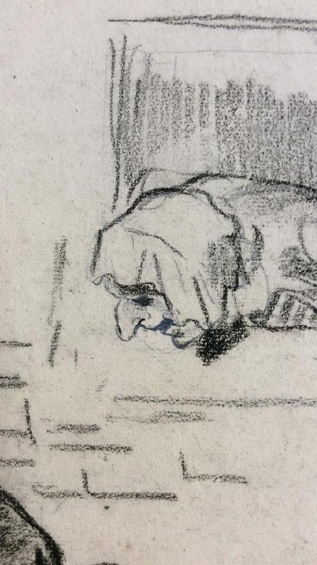 Lot 3 Abel Damourette Charcoal Sketches - 7