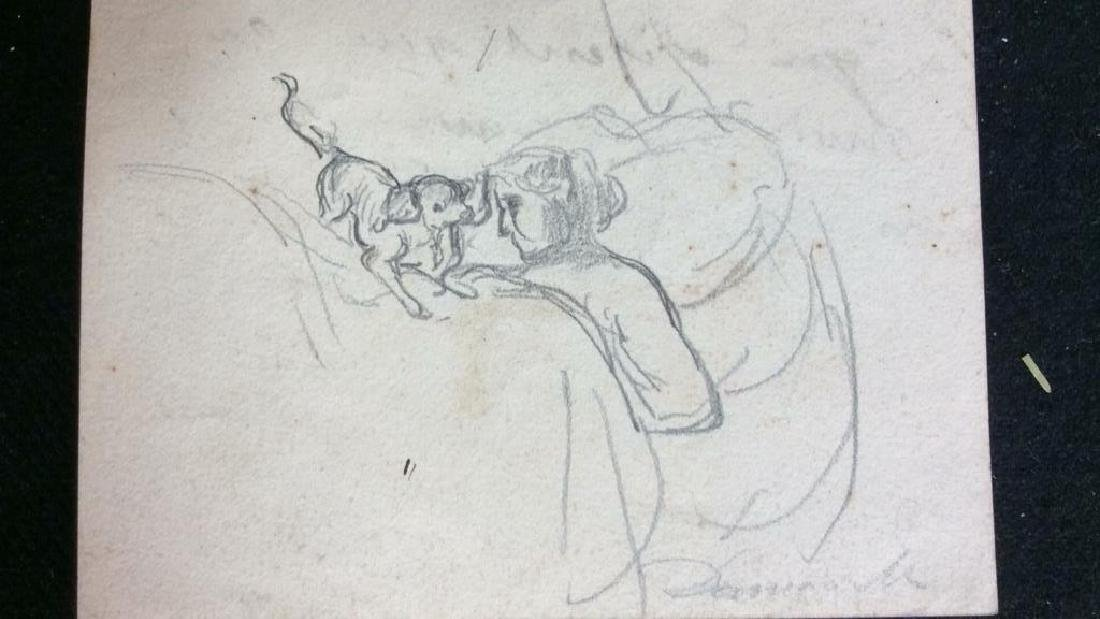 Lot 3 Abel Damourette Charcoal Sketches - 8