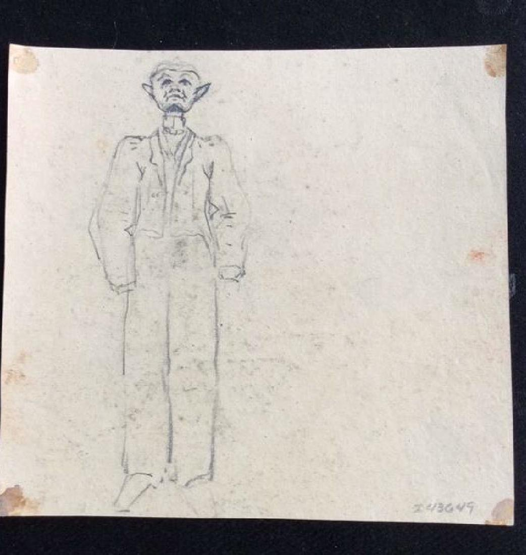 Lot 2 Abel Damourette Charcoal Sketches - 4