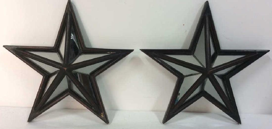 Pair CREATIVE HOME ACCENTS Star Mirrors