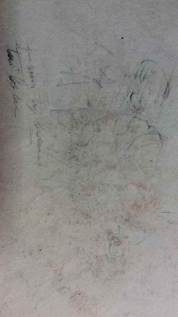 Lot 3 Abel Damourette Signed Charcoal Sketches - 10