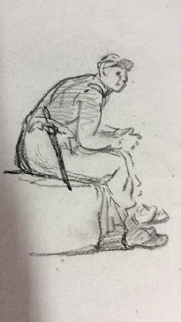 Lot 3 Abel Damourette Signed Charcoal Sketches - 3
