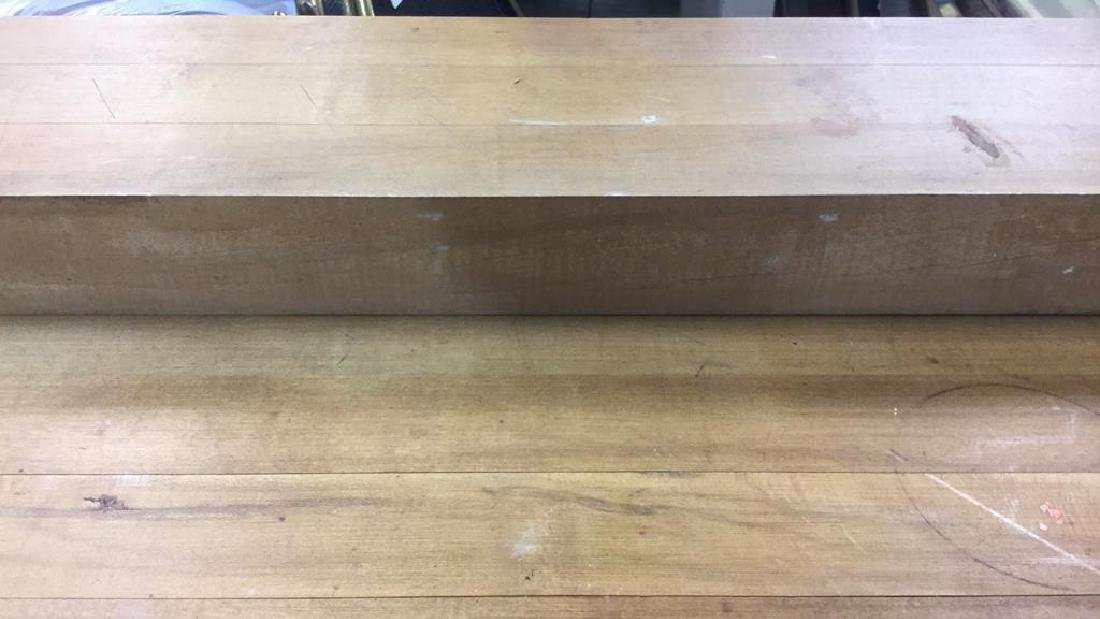 Iron and Wood Butcher Block Table Desk - 3