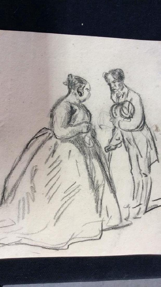 Lot 4 Signed Abel Damourette Charcoal Sketches - 10