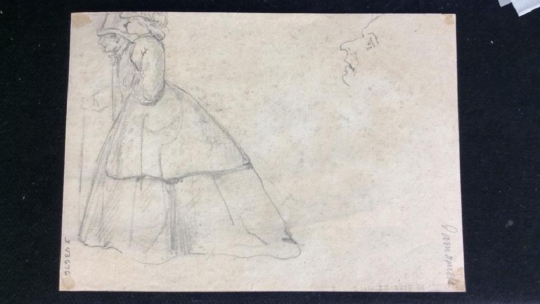 Lot 4 Signed Abel Damourette Charcoal Sketches - 2