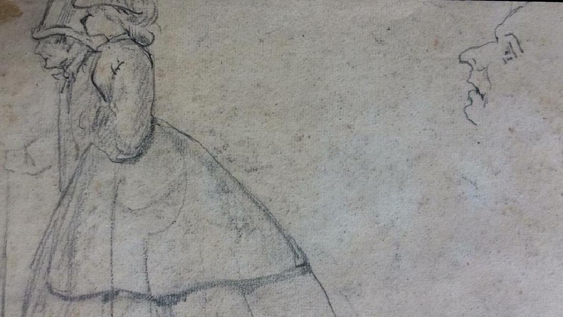 Lot 4 Signed Abel Damourette Charcoal Sketches - 3