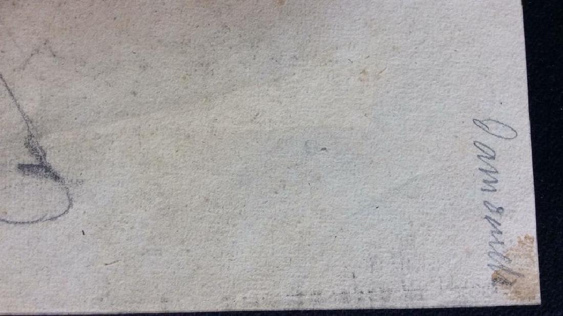 Lot 4 Signed Abel Damourette Charcoal Sketches - 4