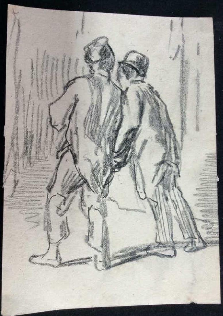 Lot 4 Signed Abel Damourette Charcoal Sketches - 6