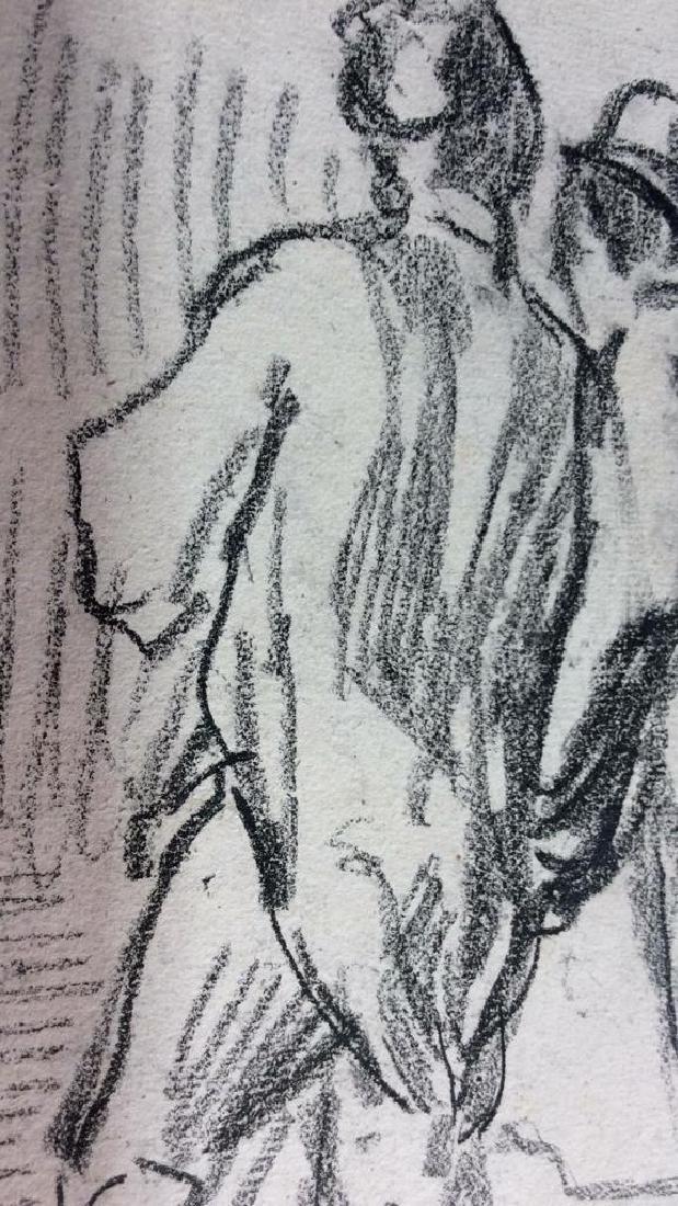 Lot 4 Signed Abel Damourette Charcoal Sketches - 7