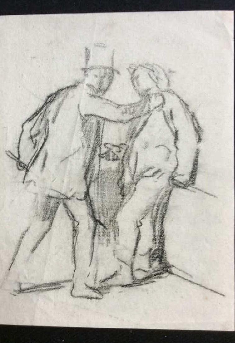 Lot 4 Signed Abel Damourette Charcoal Sketches - 9