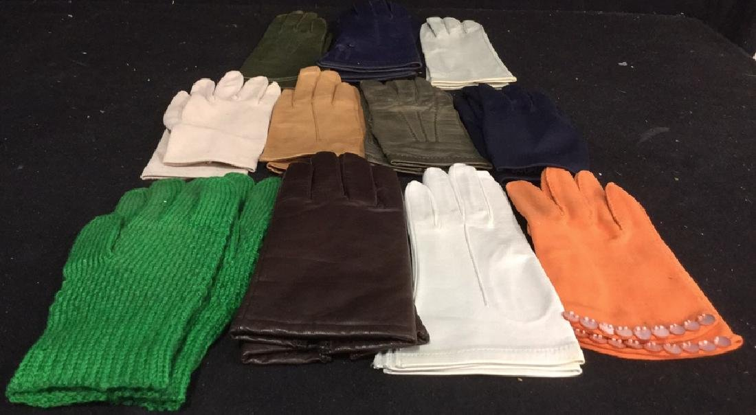 Group 11 Vintage Leather Gloves and More