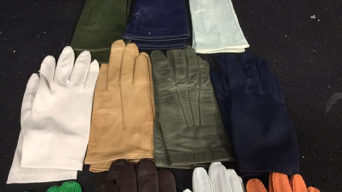Group 11 Vintage Leather Gloves and More - 3