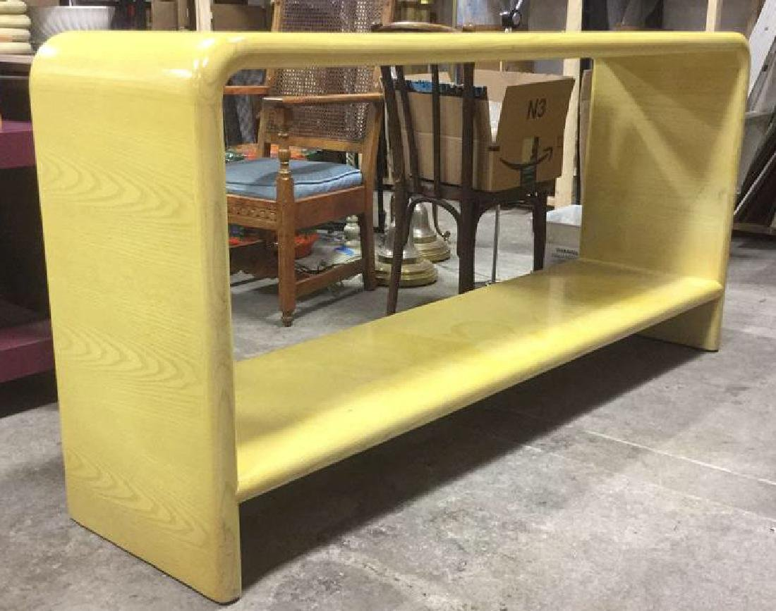 Water Fall Edge Mid Century Modern Console Table