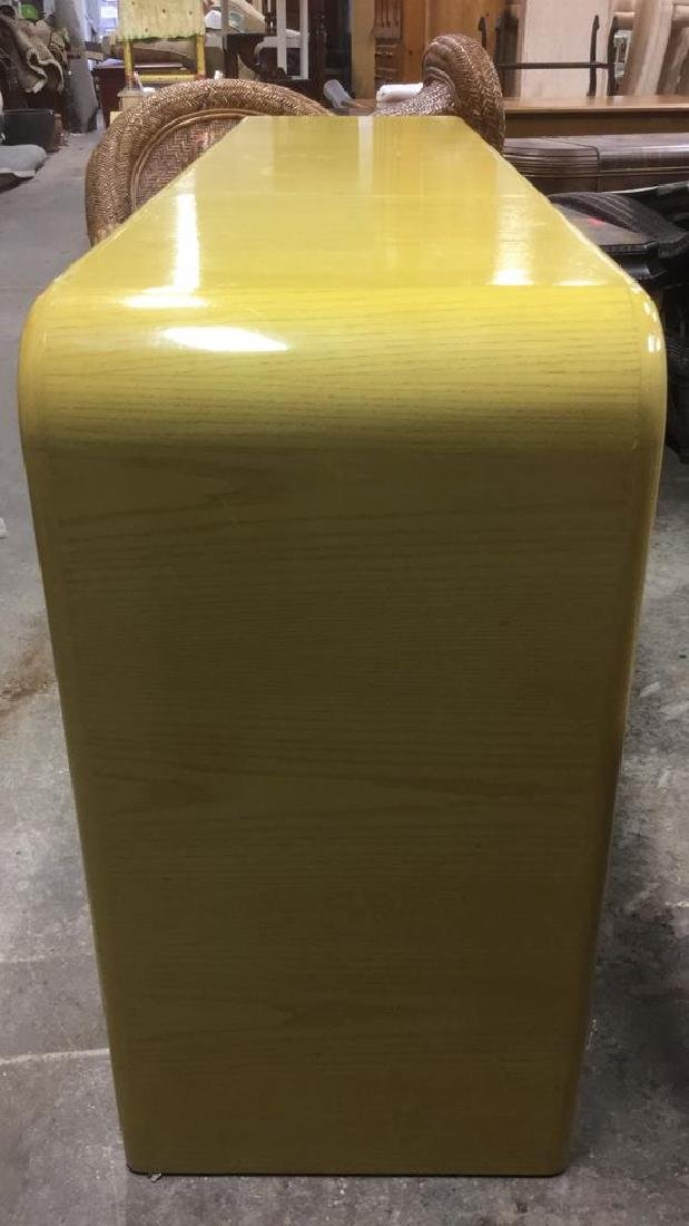 Water Fall Edge Mid Century Modern Console Table - 3