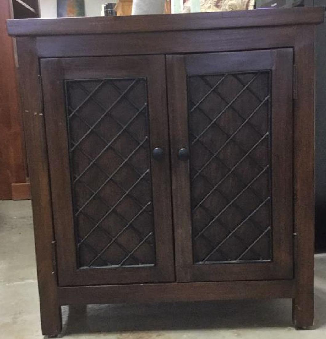 Brown Toned 2 Door Wooden Chest