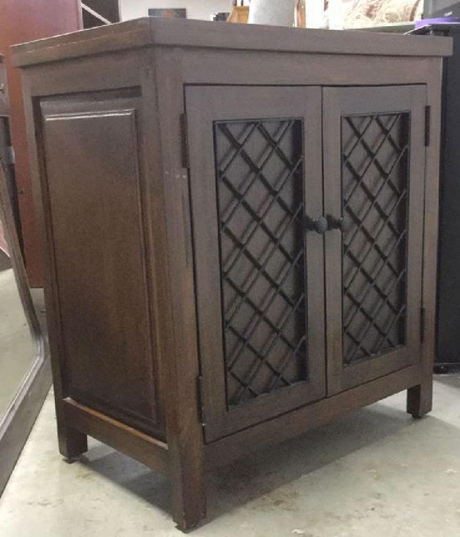 Brown Toned 2 Door Wooden Chest - 2