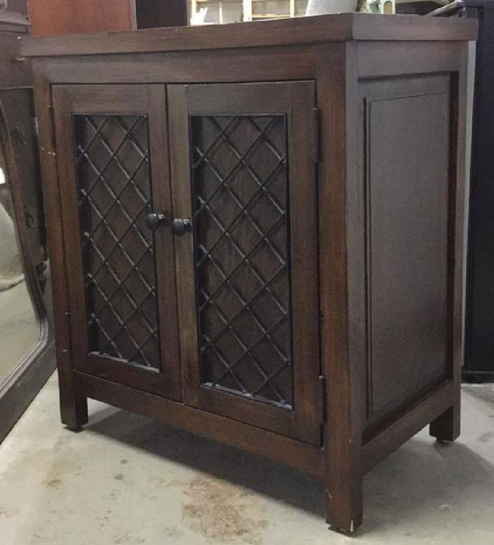 Brown Toned 2 Door Wooden Chest - 3