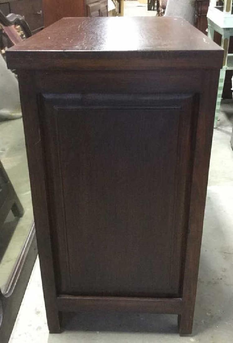 Brown Toned 2 Door Wooden Chest - 4