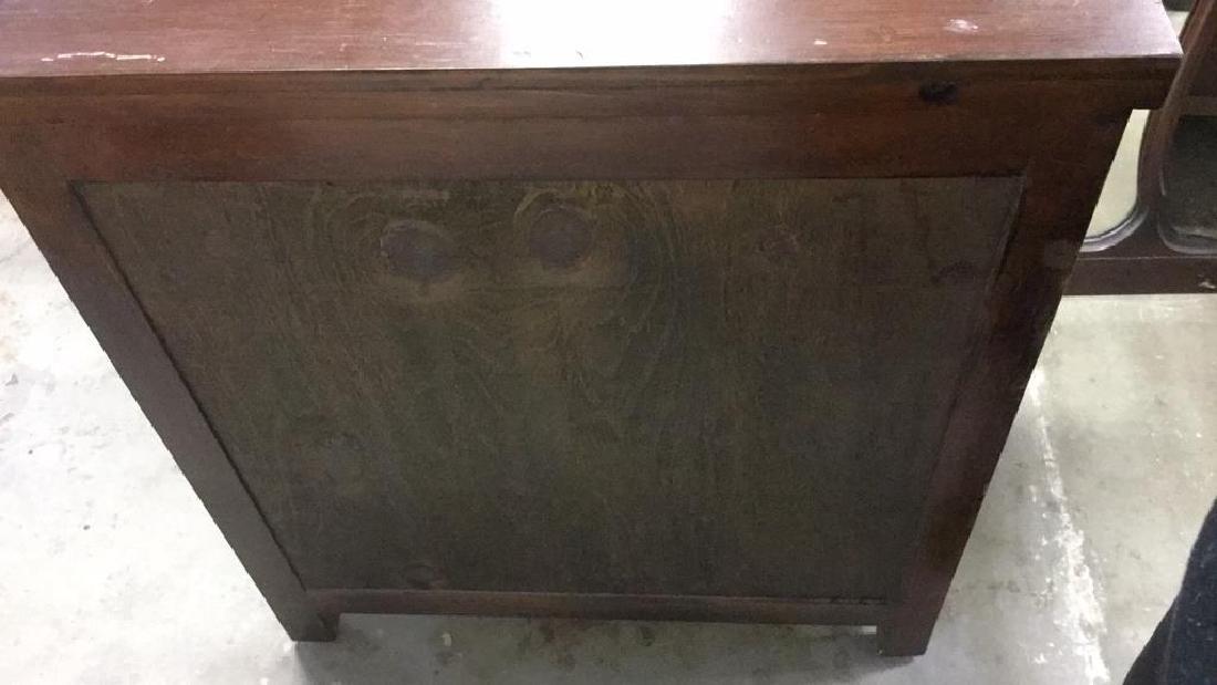 Brown Toned 2 Door Wooden Chest - 5