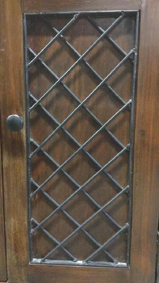 Brown Toned 2 Door Wooden Chest - 7