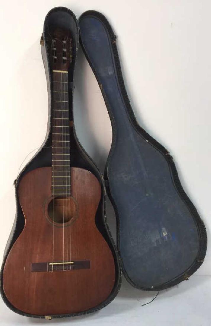 FAVILLA Brown Toned Guitar & Case