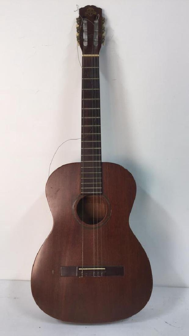 FAVILLA Brown Toned Guitar & Case - 3