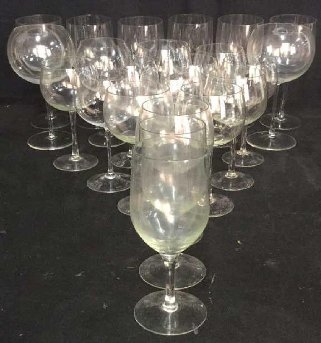 Lot 23 Assorted Glass & Crystal Wine Glasses
