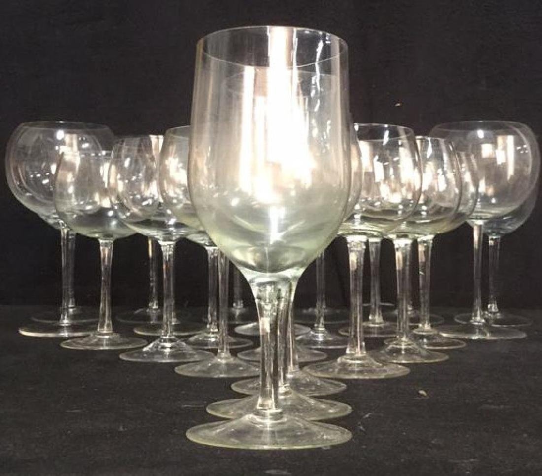 Lot 23 Assorted Glass & Crystal Wine Glasses - 2