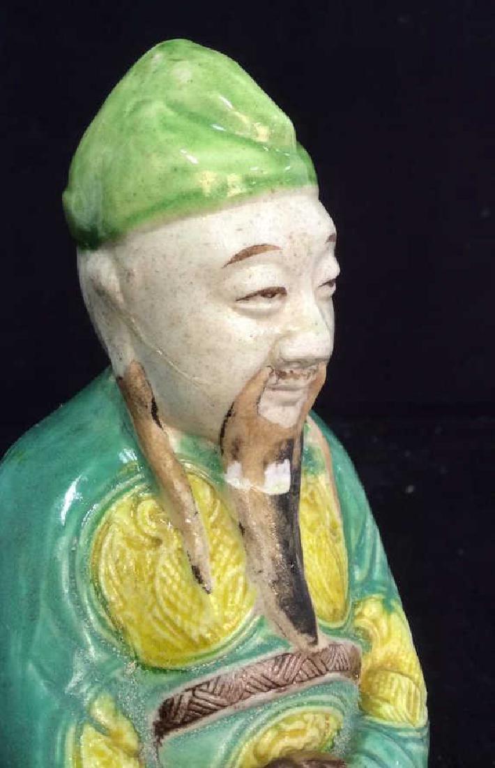 Vintage Porcelain Asian Elder Figural - 10