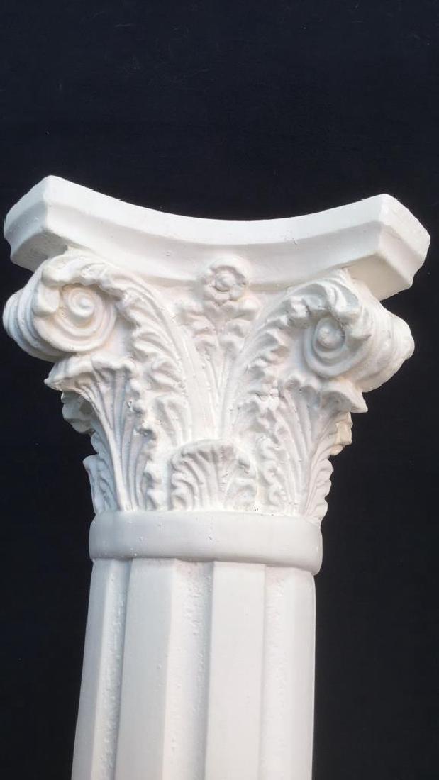 Pair  Grecia Style White Toned Columns - 3
