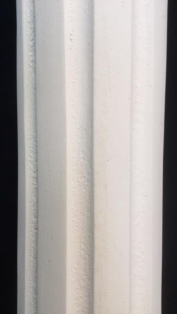 Pair  Grecia Style White Toned Columns - 6