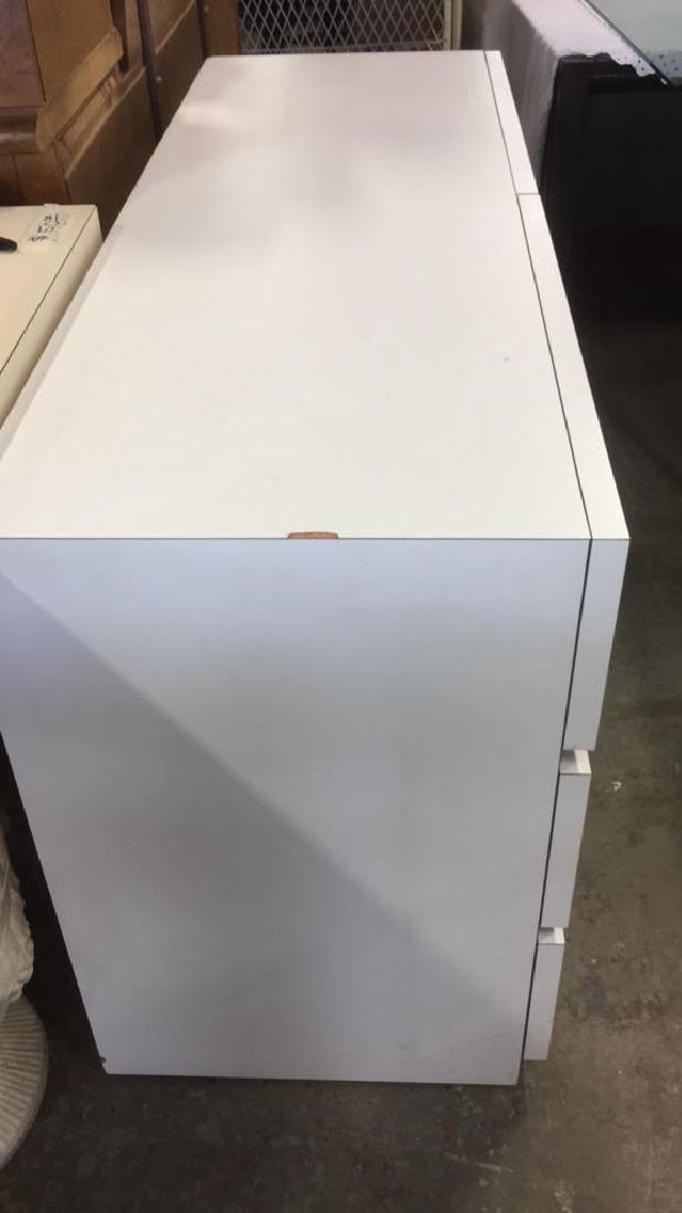 White Toned 6 Drawer Dresser - 3