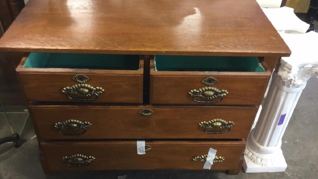 Vintage Solid Wooden 4 Drawer Dresser - 3