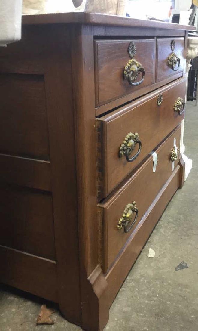 Vintage Solid Wooden 4 Drawer Dresser - 5