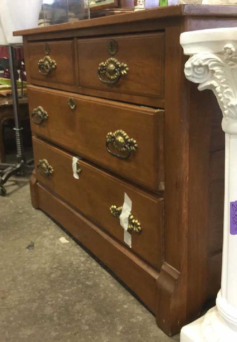 Vintage Solid Wooden 4 Drawer Dresser - 6