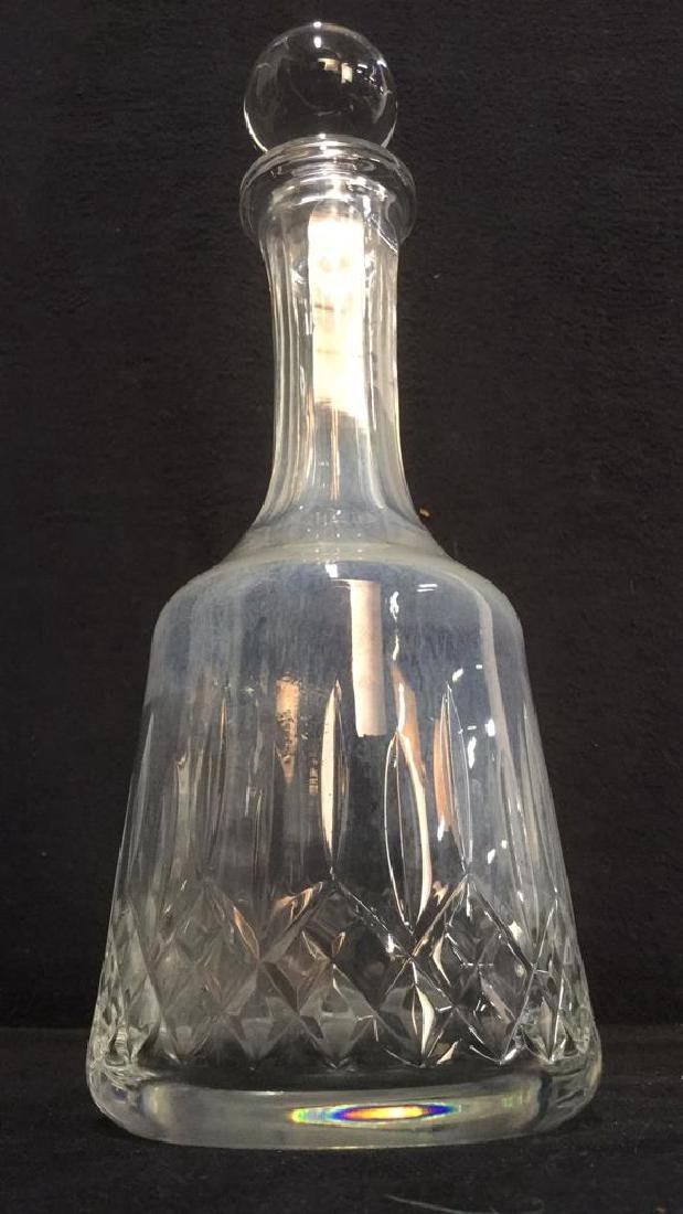 Glass Crystal Decanter W Stopper