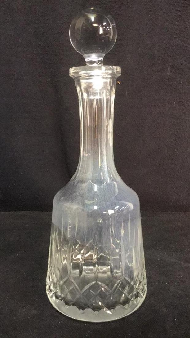 Glass Crystal Decanter W Stopper - 2
