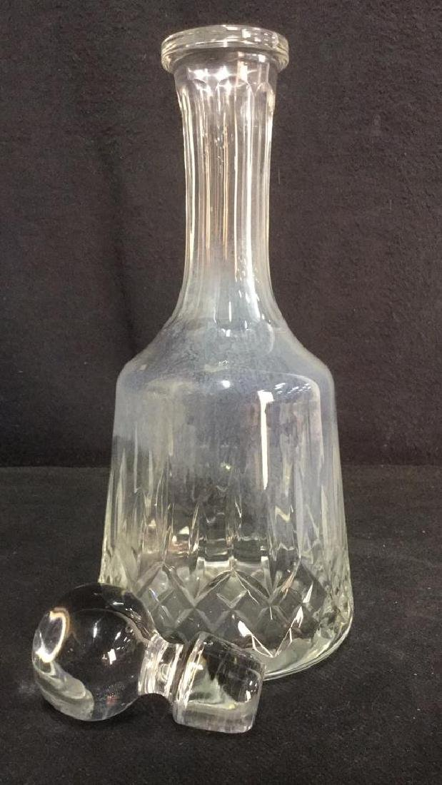 Glass Crystal Decanter W Stopper - 4